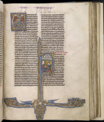 Historiated Initial With St. Paul, In 'The Bible Of Robert De Bello'